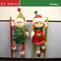 16 polegada de madeira de altura decorações de natal atacado elf escalada escada decoração de natal decorativo escada