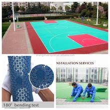 Good price and anti-slip modular pp interlocking basketball court floor