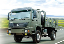 CNHTC military cargo trucks 4wd mini china RHD pickup cargo