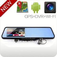 android 4.0 bluetooth GPS navigation car rearview mirror auto registrator