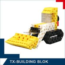 smart block toy - diy plastic toy excavator for kids