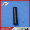 Black rubber protective sleeve slotted line