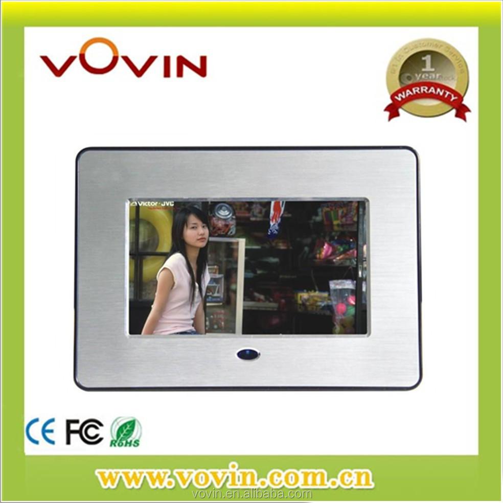 7 inch Full function Metal /Aluminum 480x234 digital photo frame YW-070F3