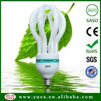 NO1 quality _8000 hours_17mm tube_ BV_SGS_SASO proved 105W, lotus cfl energy saving bulb
