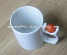 printable 11oz coated ceramic mug with ball