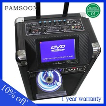 12v 30w plastic portable speakers 10 portable dvd player