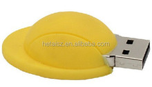 New Cartoon Yellow Worker Hat usb memory flash stick Pendrive Can do company logo