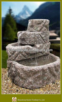 Garden decoration granite artificial rock fountains for sale