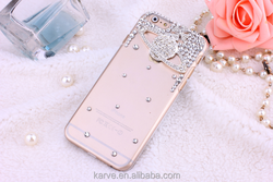 New Arrival color painted diamond TPU sublimation phone case for mobile phone