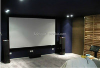 """120""""(16:9) Home Cinema Silver 3D Fabric Fixed Frame Projection Screen"""