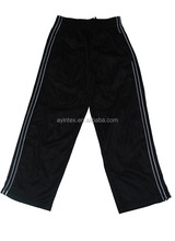 Professional manufacturer from Jiangxi,China produces tricot sports children trousers 100%polyester tricot, 200g,brushed inside