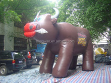 High quality product advertising inflatable cartoon bull inflatable model for sale
