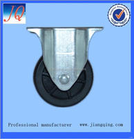 Bottom price manufacture polyurethane fixed industrial caster