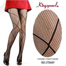 Gorgeous Japan fashion sexy tube large checkered pattern fishnet pantyhose