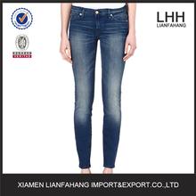 Nuevo mineral lavado ácido flaco tiro mediano apenada strech ripped denim jeans