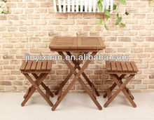 New arrival Leisure wooden table and chair set / New design outdoor folding garden table set / outdoor furniture