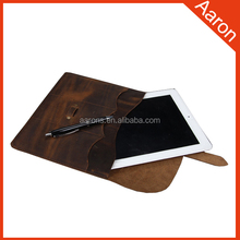 Italian dark blown style leather sleeve case for tablet case
