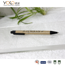 hotel eco friendly paper ball pen with logo printed wholesale