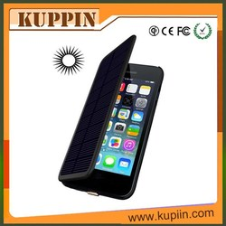 Newest 2800mAh thin external solar battery case for Iphone6 qi standard