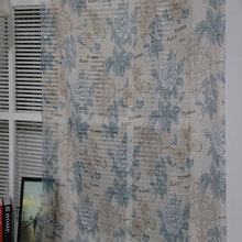 Wholesale ready made hotel living room woven sheer digital printed curtain drape