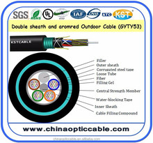 Outdoor Layer Stranded Loose Tube Gel-Filled Double-Jacket Armored Optical Fiber Cable-Gyty53