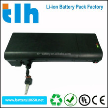 Newest arrival 36v 10ah electric bicycle battery with smart shape