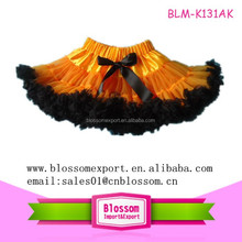 Hot sale Halloween ruffles tulle baby pettiskirt tutu for girls