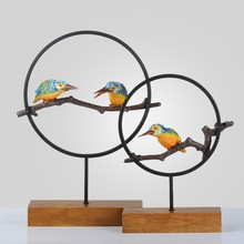 The summer hot sale freshness birds hand-make resin and metal dress up of house