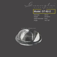 led street light 92NA /street lighting led lens / optical glass lens with high efficiency