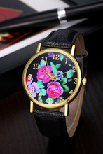 discount sale new design geneva style pu leather band watch