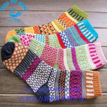 colorful fashion harajuku socks, terry thick unisex winter dress socks oem service