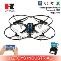 Dual control wireless control small fly quadcopter 2.4G 4ch wifi fpv rc smartphone drones with camera.