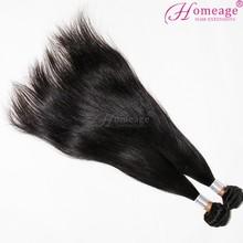 Homeage 2014 crazy hot sale virgin hair relaxed european silky straight hair