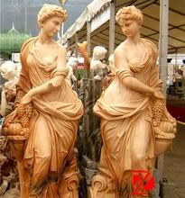 marble park women sculpture with grape