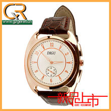 90ZWholesale Promotion Hot Christmas Gift High Quality Crocodile Embossed Leather Strap Import Good Quartz Men Dress Wristwatch