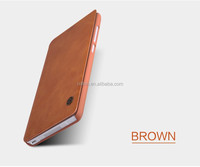Nillkin New product Qin Stylish Ultra Thin Flip pu Leather hard plastic back cover Cases for xiaomi mi note