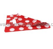 Bulk White Dots Red Tone Boutique Plastic Shopping Carrier Bags Fit Gifts (pack of 100)