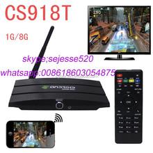 CS918T 2G/8G Bluetooth Mini PC Quad Core RK3188 Smart TV Box Android 4.2 with Remote Control US Standard Black