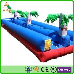 blue inflatable slip n slide