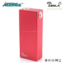 Tesla Invader Mini Box Mod / half mechanical mod Support using two 18650 steel shell batteries in parallel