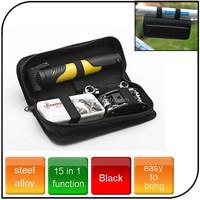 15 in1 functions professional bicycle repair tool set mini tool set with tyre repair inflator