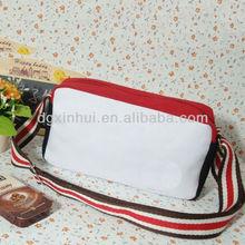 Korean preppy look style color matching satchel vintage women men hobo canvas messenger bag