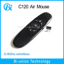 c120 t10 wireless remote control 2.4g wireless air mouse support , android,linux for tv box and computer
