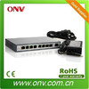 Poe switch for IP surveillance networks with 8 PoE ports and one uplink port