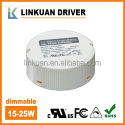 12W 18W 25W 700mA triac dimmable led driver with UL certificate number E478938 for LED downlight & panel light