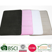 Microfiber Memory Foam Anti-slip Rubber Base Floor Rug Bath Mat