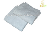 wholesale Hotel Organic Terry cloth 100% cotton white Face towel