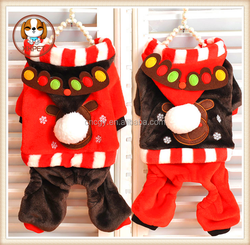 Loud jingle new winter elk winter clothes pet clothes Teddy dog supplies suit for dogs