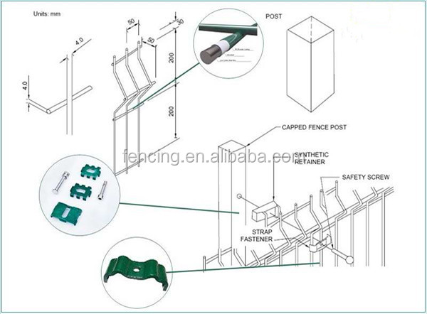 Anping Factory Wire Mesh Fence Fasteners With Fence Panel - Buy Wire ...