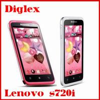 Newest wholesale lenovo s720i android 4.1 mtk 6577 dual core 1G RAM 4G ROM GPS Wifi Bluetooth 8MP dual sim card
